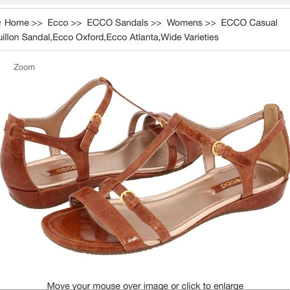 ECCO casual bouillon brown sandals size 39